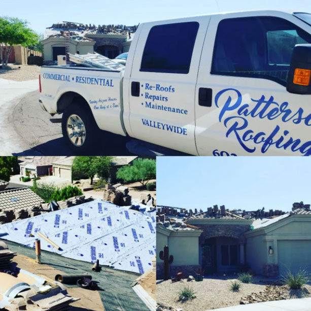 A Patterson Roofing Roof Replacement Job.
